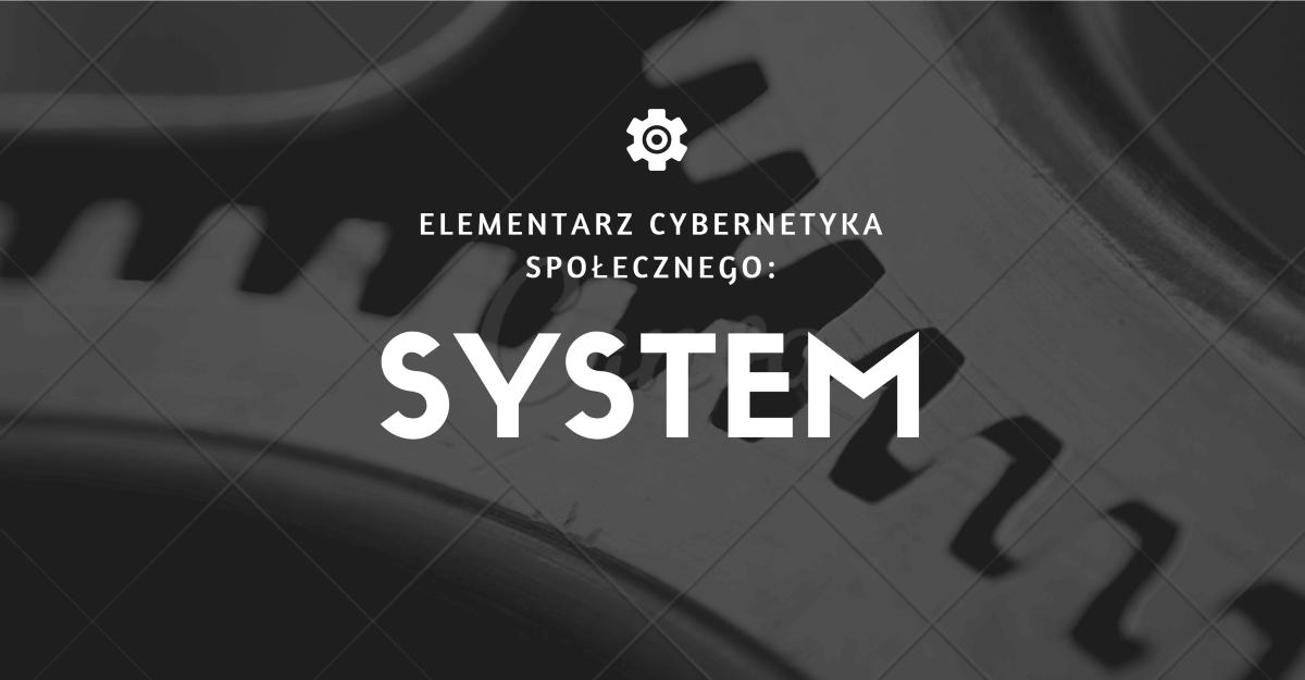 Elementarz cybernetyka społecznego:  system